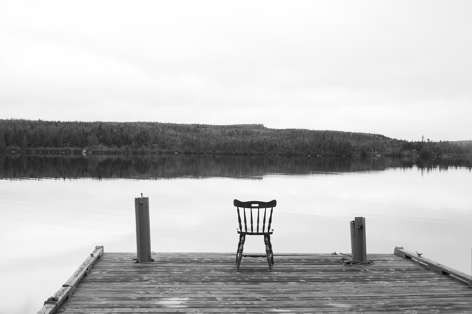 chair overlooking the river